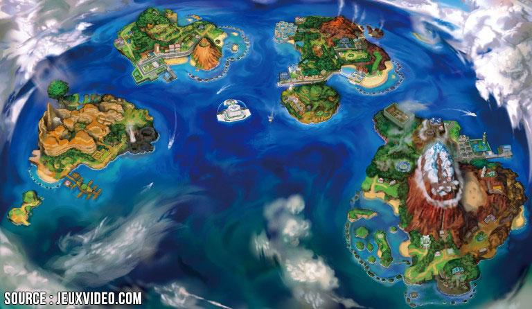 Les 4 îles de Pokémon Soleil sont très agréables à parcourir.