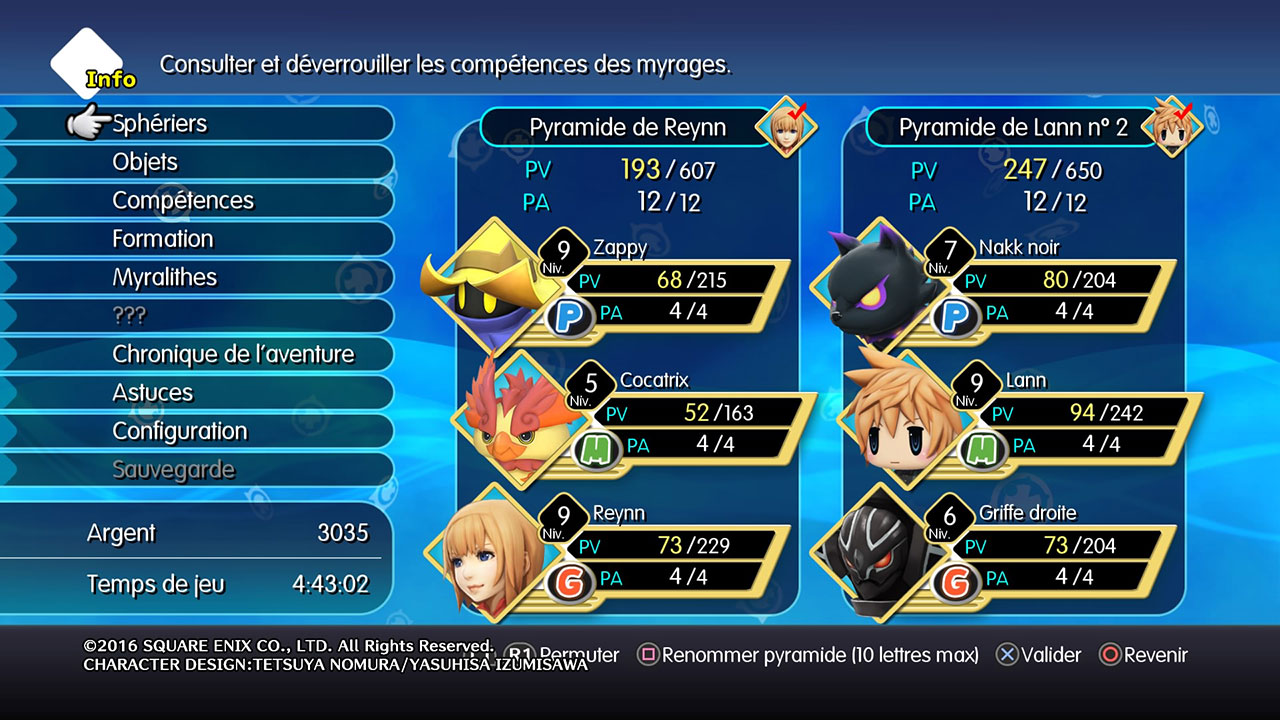 World of Final Fantasy regorge de Myrages qu'il faut combiner pour un maximum d'efficacité !